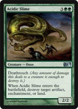 画像1: 酸のスライム/Acidic Slime 【英語版】 [M12-緑U]