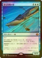[FOIL] 霊気海嘯の鯨/Aethertide Whale 【日本語版】 [AER-青R]