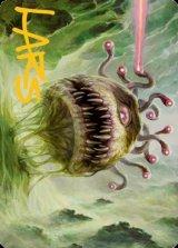 [アート・カード] 悪意のビホルダー/Baleful Beholder No.001 (箔押し版) 【英語版】 [AFR-トークン]