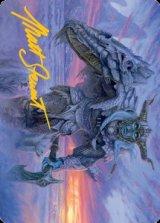 [アート・カード] 霧氷盾のフロスト・ジャイアント/Rimeshield Frost Giant No.005 (箔押し版) 【英語版】 [AFR-トークン]