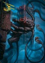[アート・カード] ディスプレイサー・ビースト/Displacer Beast No.008 (箔押し版) 【英語版】 [AFR-トークン]