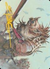[アート・カード] ノールの狩人/Gnoll Hunter No.011 (箔押し版) 【英語版】 [AFR-トークン]