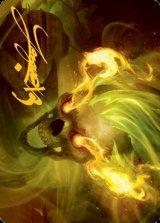 [アート・カード] フレイムスカル/Flameskull No.014 (箔押し版) 【英語版】 [AFR-トークン]