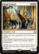 威厳あるカラカル/Regal Caracal 【英語版】 [AKH-白R]《状態:NM》