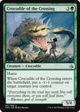 横断地のクロコダイル/Crocodile of the Crossing 【英語版】 [AKH-緑U]《状態:NM》