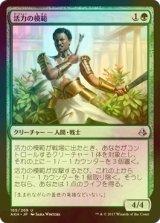 [FOIL] 活力の模範/Exemplar of Strength 【日本語版】 [AKH-緑U]
