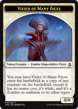 多面相の侍臣/Vizier of Many Faces 【英語版】 [AKH-トークン]
