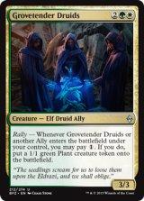 林番のドルイド/Grovetender Druids 【英語版】 [BFZ-金U]《状態:NM》