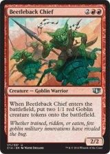 甲虫背の酋長/Beetleback Chief 【英語版】 [C14-赤U]
