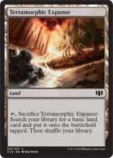 広漠なる変幻地/Terramorphic Expanse 【英語版】 [C14-土地C]《状態:NM》