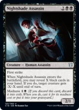 ベラドンナの暗殺者/Nightshade Assassin 【英語版】 [C19-黒U]