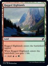 岩だらけの高地/Rugged Highlands 【英語版】 [C19-土地C]《状態:NM》