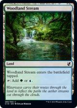 森林地の小川/Woodland Stream 【英語版】 [C19-土地C]《状態:NM》