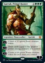 原初の狩人、ガラク/Garruk, Primal Hunter 【英語版】 [C21-緑MR]
