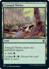 平穏な茂み/Tranquil Thicket 【英語版】 [C21-土地C]