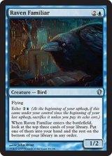 ワタリガラスの使い魔/Raven Familiar 【英語版】 [C13-青U]