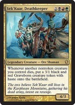 画像1: 死の守り手、セックァー/Sek'Kuar, Deathkeeper 【英語版】 [C13-金R]