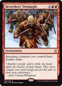 画像1: 狂戦士たちの猛攻/Berserkers' Onslaught 【英語版】 [DTK-赤R]《状態:NM》