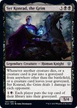 厳格な者、コンラッド卿/Syr Konrad, the Grim 【英語版】 [ELD-黒U]《状態:NM》