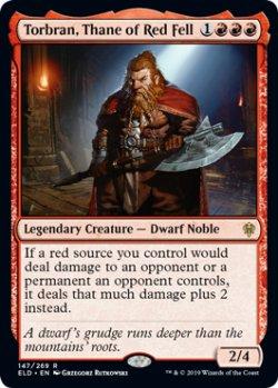 画像1: 朱地洞の族長、トーブラン/Torbran, Thane of Red Fell 【英語版】 [ELD-赤R]《状態:NM》