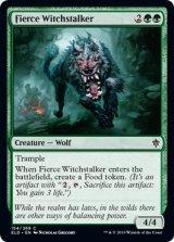 獰猛な魔女跡追い/Fierce Witchstalker 【英語版】 [ELD-緑C]《状態:NM》