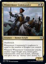 冬荒野の指揮官/Wintermoor Commander 【英語版】 [ELD-金U]《状態:NM》