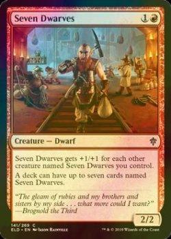 画像1: [FOIL] 七人の小人/Seven Dwarves 【英語版】 [ELD-赤C]