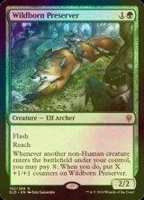 [FOIL] 僻境生まれの保護者/Wildborn Preserver 【英語版】 [ELD-緑R]《状態:NM》
