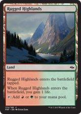 岩だらけの高地/Rugged Highlands 【英語版】 [FRF-土地C]《状態:NM》