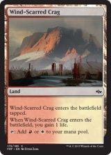 風に削られた岩山/Wind-Scarred Crag 【英語版】 [FRF-土地C]《状態:NM》