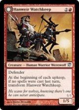ハンウィアーの砦守り/Hanweir Watchkeep 【英語版】 [ISD-赤U]《状態:NM》