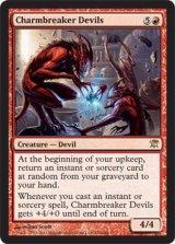 護符破りの小悪魔/Charmbreaker Devils 【英語版】 [ISD-赤R]《状態:NM》