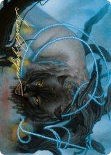 [アート・カード] 怪物縛り/Bind the Monster No.011 (箔押し版) 【英語版】 [KHM-トークン]