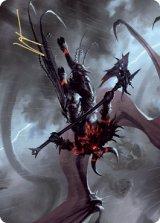 [アート・カード] 燃えルーンの悪魔/Burning-Rune Demon No.020 (箔押し版) 【英語版】 [KHM-トークン]
