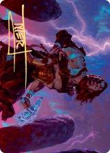 [アート・カード] 怒りの神、トラルフ/Toralf, God of Fury No.039 (箔押し版) 【英語版】 [KHM-トークン]