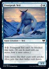 霜峰のイエティ/Frostpeak Yeti 【英語版】 [KHM-青C]
