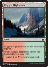 岩だらけの高地/Rugged Highlands 【英語版】 [KTK-土地C]《状態:NM》