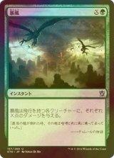 [FOIL] 暴風/Windstorm 【日本語版】 [KTK-緑U]
