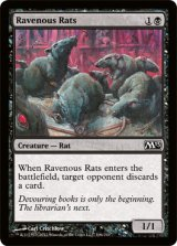 貪欲なるネズミ/Ravenous Rats 【英語版】 [M13-黒C]《状態:NM》