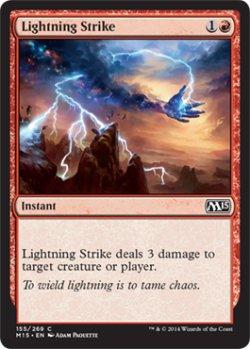 画像1: 稲妻の一撃/Lightning Strike 【英語版】 [M15-赤C]