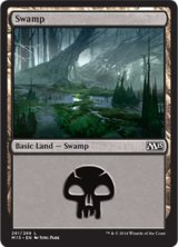 沼/Swamp No.261【英語版】 [M15-土地]《状態:NM》
