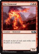 炎の精霊/Fire Elemental 【英語版】 [M19-赤C]