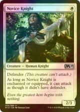 [FOIL] 新米騎士/Novice Knight 【英語版】 [M19-白U]