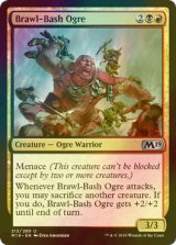 [FOIL] 殴りつけるオーガ/Brawl-Bash Ogre 【英語版】 [M19-金U]