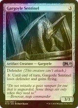 [FOIL] ガーゴイルの歩哨/Gargoyle Sentinel 【英語版】 [M19-灰U]