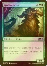 [FOIL] 用心深いベイロス/Vigilant Baloth 【日本語版】 [M19-緑U]