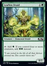 枝葉族のドルイド/Leafkin Druid 【英語版】 [M20-緑C]