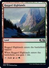 岩だらけの高地/Rugged Highlands 【英語版】 [M20-土地C]《状態:NM》