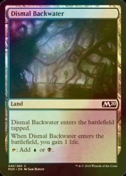 画像1: [FOIL] 陰鬱な僻地/Dismal Backwater 【英語版】 [M20-土地C]