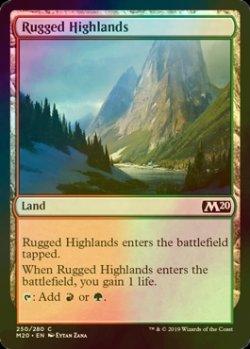 画像1: [FOIL] 岩だらけの高地/Rugged Highlands 【英語版】 [M20-土地C]